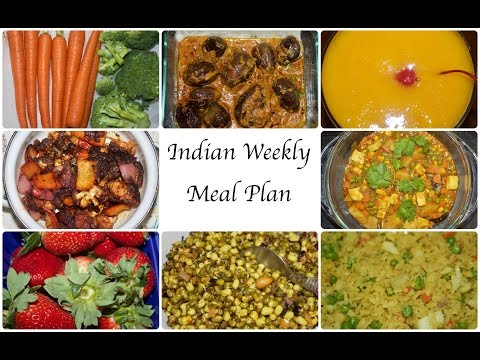 Indian Weekly Meal Planning | Indian Meal Plan Ideas  | Simple Living Wise Thinking