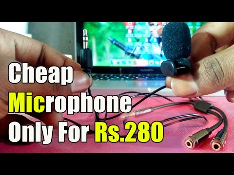Best Cheap Clip Microphone for Voice Recording And 3.5 Audio Adapter in INDIA