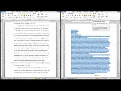 Word: How to Create an Annotated Bibliography