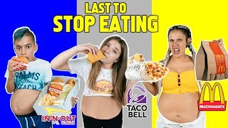 LAST To STOP EATING FAST FOOD Wins $10,000 Challenge! *BAD IDEA*   The Royalty Family