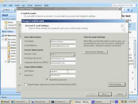 changing default smtp port on outlook 2007