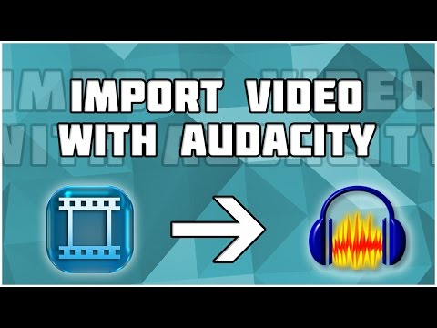 How to extract audio from video using audacity! How to import video to Audacity! Multi Track Video!