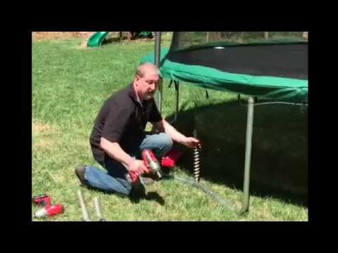 How to Anchor a Trampoline with PE18 Penetrator