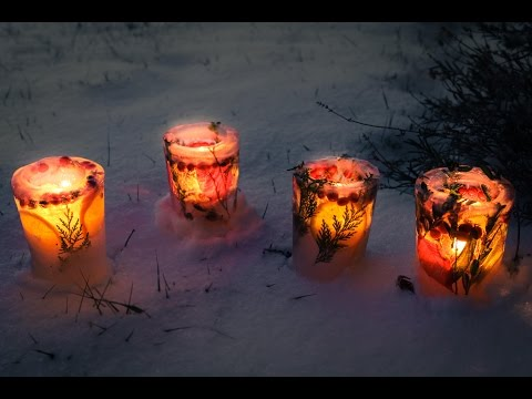 How to Make Ice Luminaries (Ice Candle Holders)
