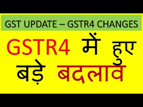 GST UPDATES:MAJOR CHANGES IN GSTR4|PURCHASE DETAILS NOT REQUIRED IN GSTR4 NOW|CA MANISH AGARWAL