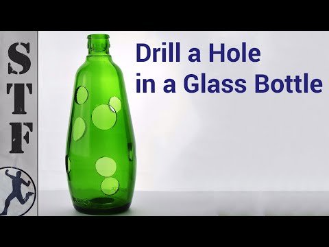How to Drill a hole in a Glass Bottle | The Easy Way