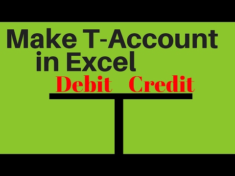 How to make T-Account in Microsoft Excel