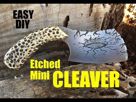How to make a Mini Cleaver Knife with 3D metal etching