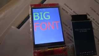 ILI9341 SD card fonts.