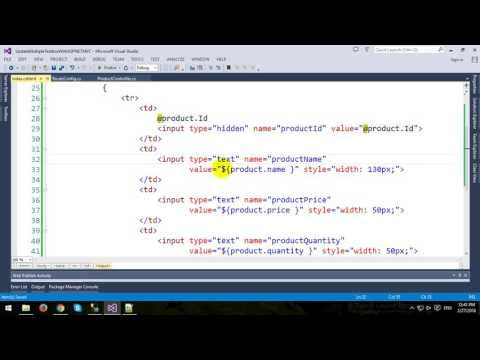 Update Multiple Textbox in ASP NET.MVC and Entity Framework