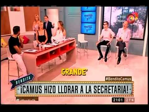 Camus hizo llorar a la secretaria