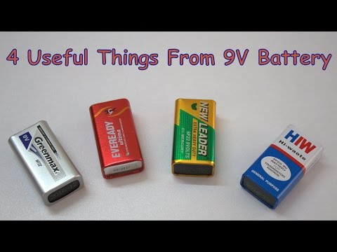 4 Useful Things From 9V  Battery