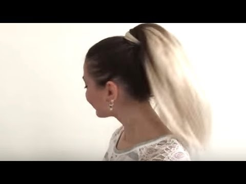 How to Classic High Ponytail in Short Hair with Extensions