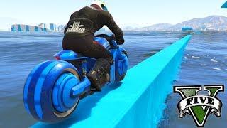GTA V Online: SKILL TEST NO TSUNAMI de MOTO TRON!!!