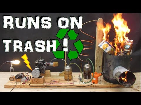 How to Run a Generator on Trash!  (Gasifier Pt 2) Experiment