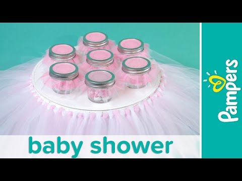Princess Baby Shower: How to Make a Tutu Cake Stand | Pampers