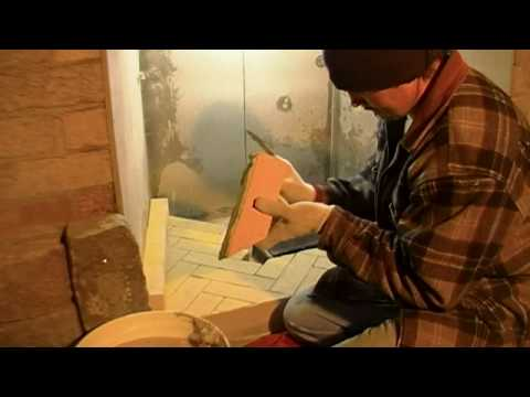 Bricks & Stone Fireplace (part 5) firerock,firebricks,firebox  installation