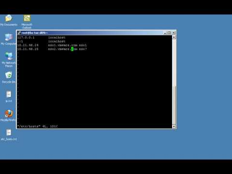 How to edit files on an ESX host using vi or nano