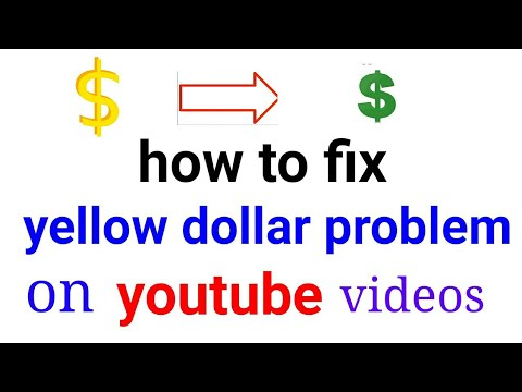 how to fix yellow dollar sign problem on youtube videos 2017 urdu/hindi ?