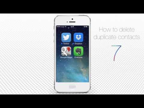 How to Delete Duplicate Contacts on iPhone and iPad (iOS7)