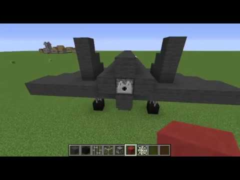 How to build a minecraft fighter jet!