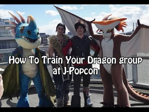 How To Train Your Dragon cosplay group at J-Popcon 2017