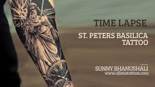 d5088219e 17:35 · Time Lapse - Making of St Peters Basilica Tattoo ...