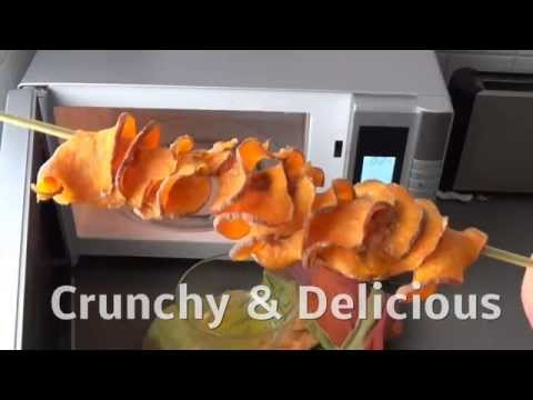 Sweet Potato Skewer Chips (made in the Microwave)