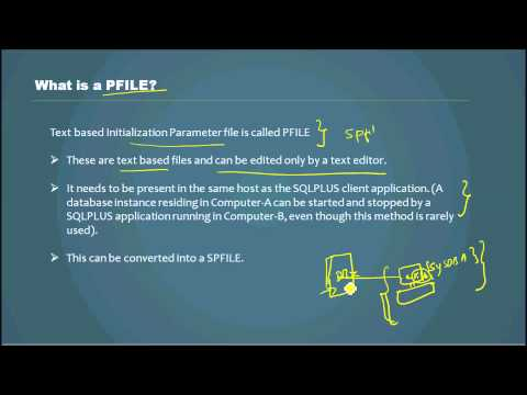 Database Tutorial - What is a PFILE? - Video 33