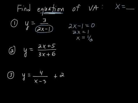 Finding Vertical Asymptotes Algebraically