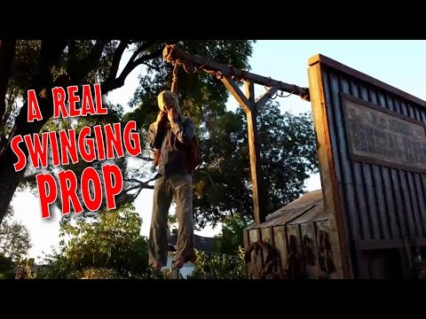 Make A Pneumatic Thrasher Hangman & Gallows Prop: DIY Halloween Decorations