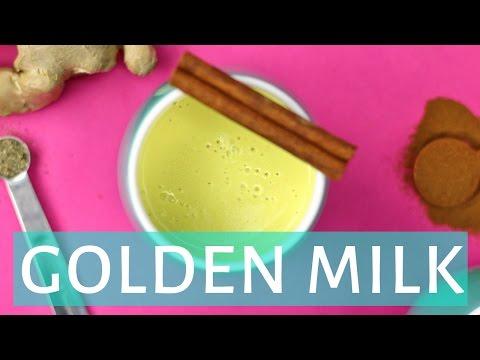 How To Make GOLDEN MILK   Turmeric Milk Latte