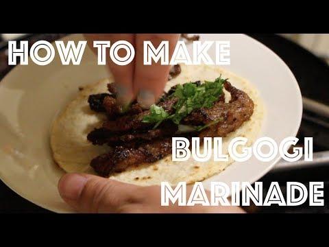 How to make Bulgogi Marinade for beef, chicken or pork! Awesome Recipe