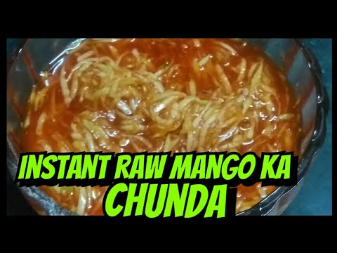 Raw mango kachumber salad|how to make sweet and scipy pickel of raw mango at home easy and fast.