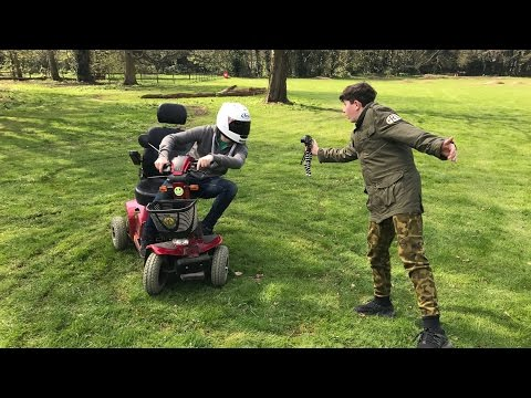 Mobility Scooter With 160cc Pit Bike Engine-Dirt Bike-Motocross