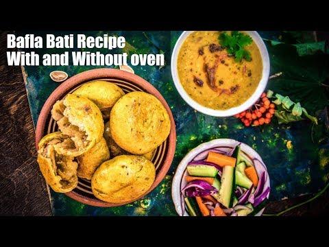 Bafla Baati Recipe in Oven and Pan | How to Make Dal Bafla | Rajasthani Bafla Bati