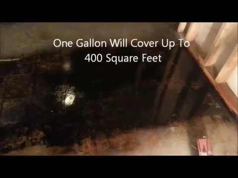 Remove Mastic Asphalt Flooring Adhesive from Concrete Flooring - Oil Flo 141 - DIY