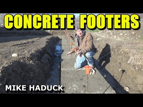 pouring a concrete footer (Mike Haduck)