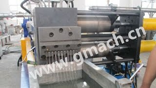 Gmach continuous screen changer on plastic recycing granulating extrusion line