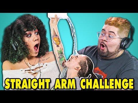 COLLEGE KIDS REACT TO STRAIGHT ARM CHALLENGE (#StraightArmChallenge)