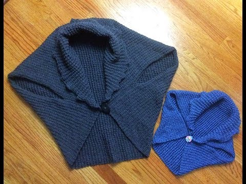 Knitted vest/shrug. Complete tutorial. Great project for beginner.