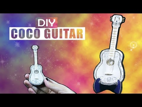 Make Coco Guitar Miniature from Clay -  DIY Craft