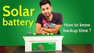 How to charge battery from solar panel and how to calculate battery backup time