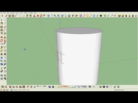 Google Sketchup tutorial-  how to get text on a curved surface