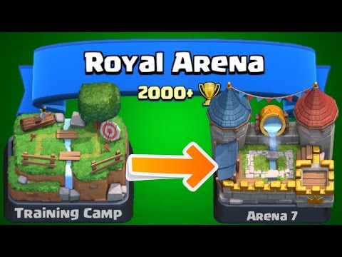Clash Royale - How To Get To Arena 7! Epic FAST Strategy For Beginners & Experts! Tips Royal Arena!