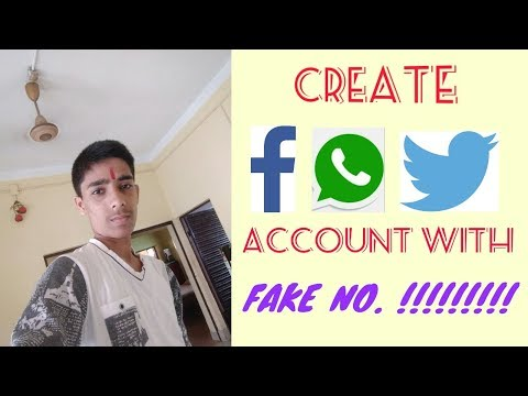 Make social account like Facebook , WhatsApp with fake numbers