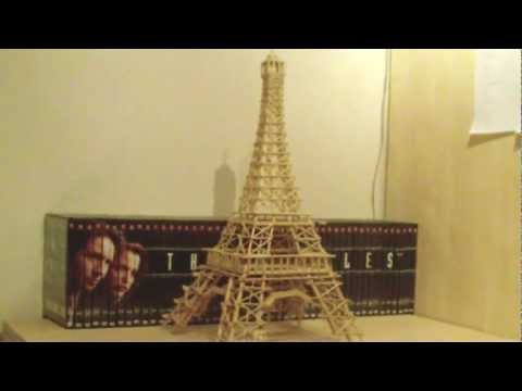 Eiffel Tower made from Toothpicks, Skewers and Ice Lolli Sticks