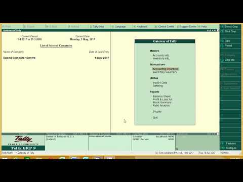 Purchase and Sales Entry in Tally ERP 9 6 0 1 in Hindi