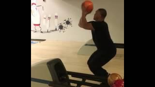 Guy Bowls Like a Basketball Player