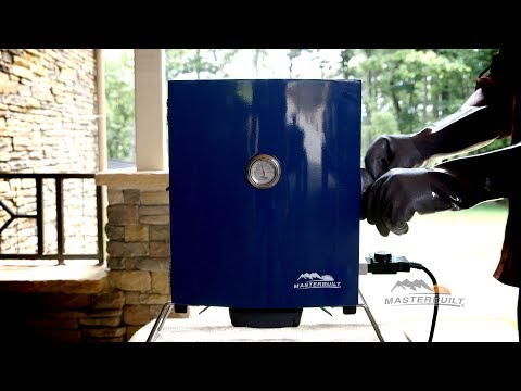 Cooking on the Patio to Portable Electric Smoker (Blue)